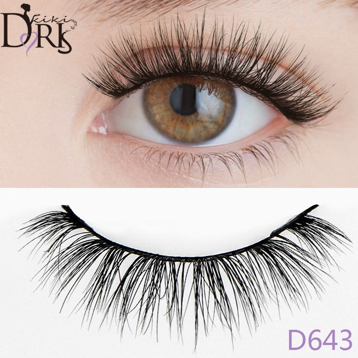 D643 Natural 100% Handmade Real Mink Fur False Eyelash 3D Strip Mink Lashes Extensions Fake Eyelashes Makeup Beauty False Lashes