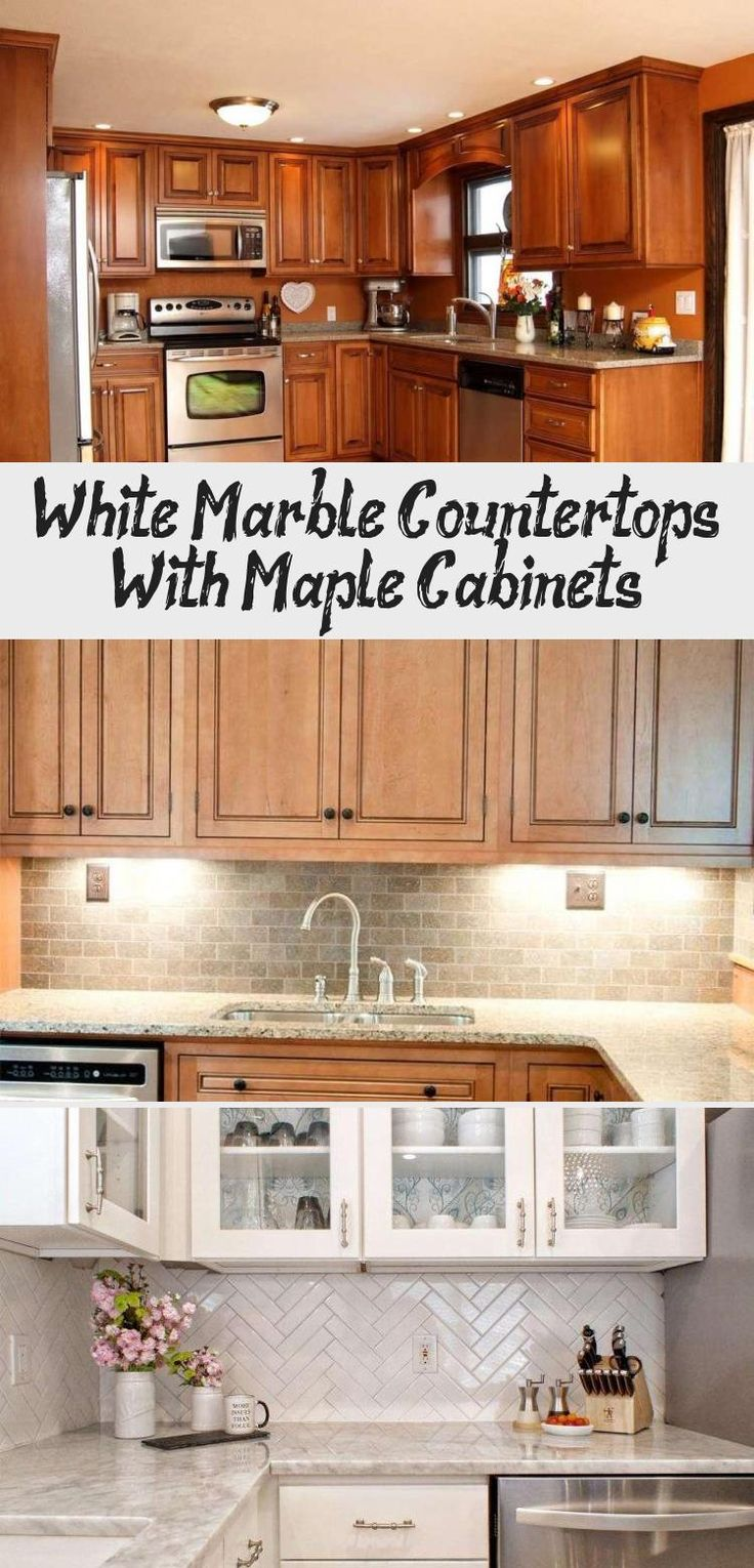 White Marble Countertops With Maple Cabinets | Maple ... on Maple Cabinets White Countertops  id=36754