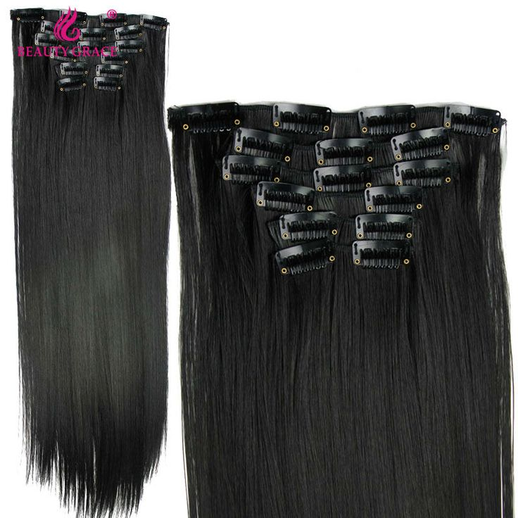 49 best clipon hair extensions images on pinterest afro box hairpiece straight 16 clips in false hair styling synthetic clip in hair extensions heat resistant hair pad pmusecretfo Choice Image