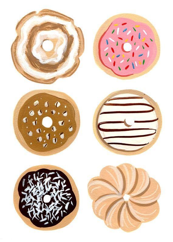 Half A Dozen Donuts Print by shopannshen on Etsy