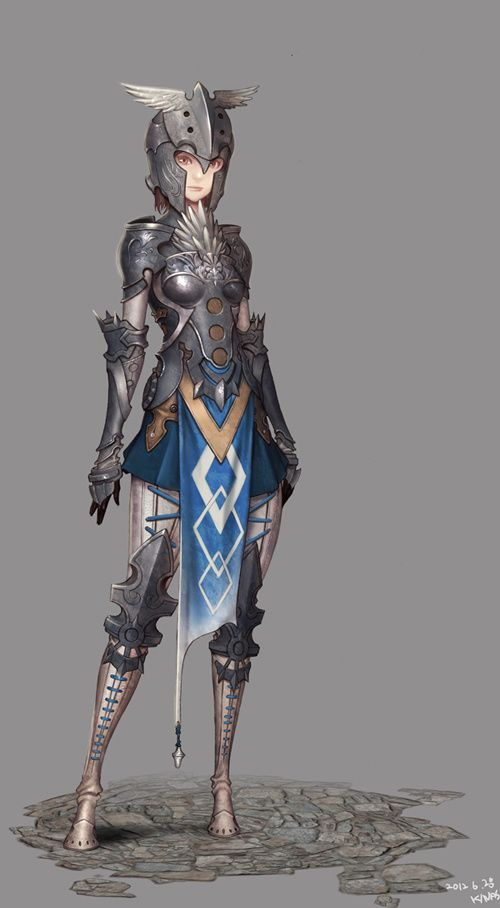 really cool female knight design