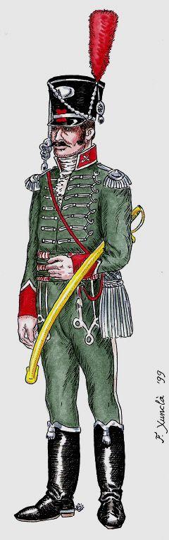 Olivenza 1808 Cazadores. Capitán