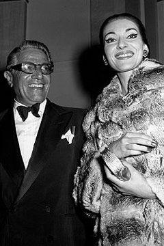 Original Greek power couple -   Maria Callas with Aristotle Onassis
