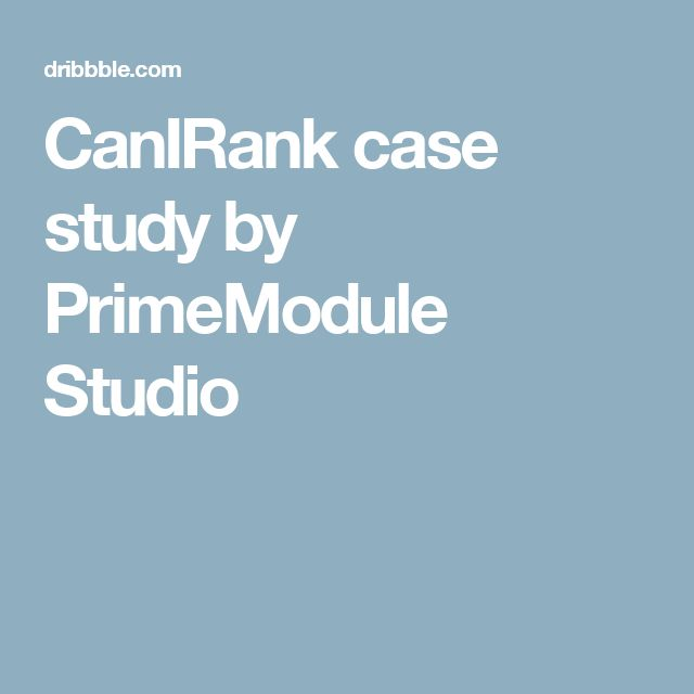 CanIRank case study by PrimeModule Studio