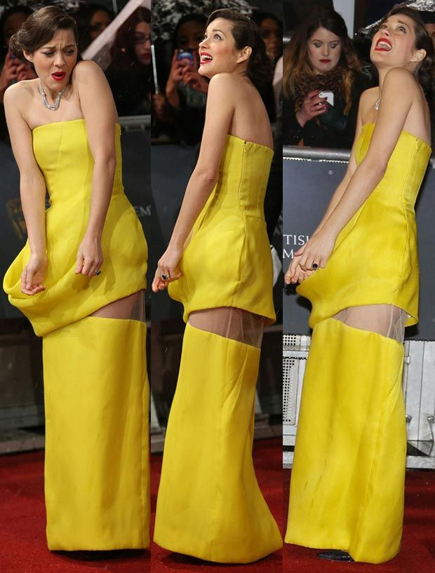 marillon cotillard in jellow dress