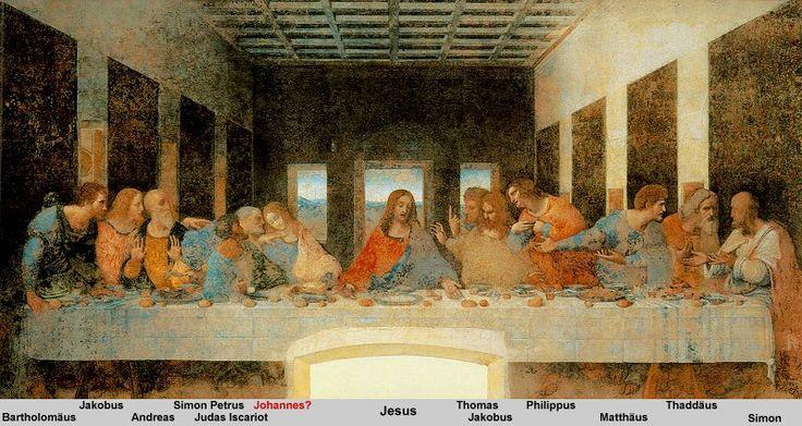 Leonardo da Vinci - Das letzte Abendmahl: Artists, Maria Dell, Dell Grazi, Milan Italy, Leonardo Da Vinci, Paintings, Santa Maria, Last Suppers, Leonardodavinci