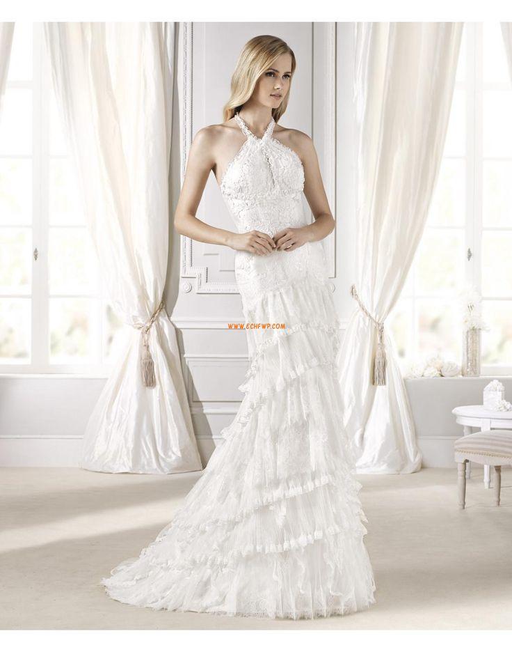 Kolem krku Klasické & nadčasové Nabírání Svatební šaty 2015
