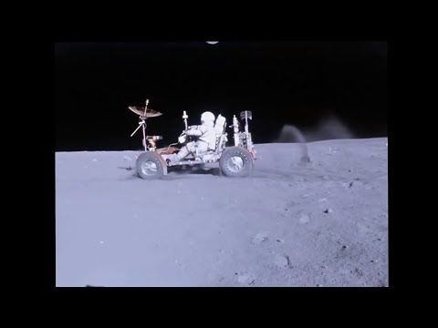 Apollo 16's Lunar Roving Vehicle rolling about the surface of the moon. video stabilized using Deshaker v2.5 filter for VirtualDub 1.9.9 Source: Apollo Missi...