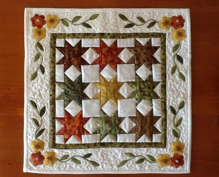 Sawtooth star Miniature Quilt pattern on Craftsy.com