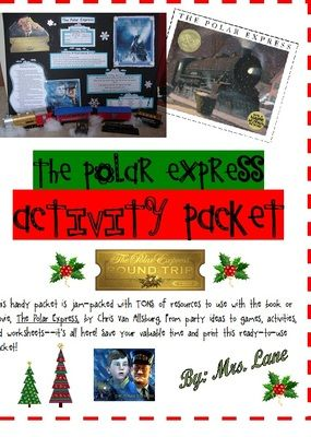"""The Polar Express Activity Packet (JAM-PACKED!) from Mrs Lane on TeachersNotebook.com -  - This handy packet is jam-packed with TONS of resources to use with the book or movie, """"The Polar Express"""", by Chris Van Allsburg. From party ideas to games, activities, and worksheets--it's all here! Save your valuable time and print this r"""
