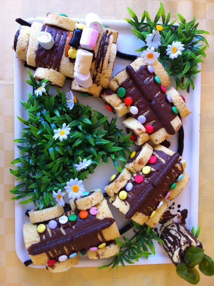 torta trenino - train cake