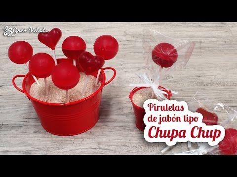 Hacer piruletas de jabón de glicerina originales tipo chupa chup