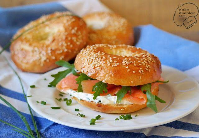 Wonder Wunderbare Küche: Bagels mit Räucherlachs und Rucola