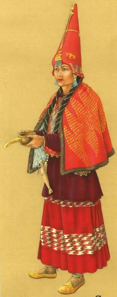 Scythian woman illustration.