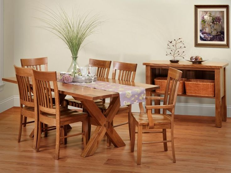 Familiar like your favorite picnic spot, our Jonesborough Farmhouse Table Set is a practical solution to your informal dining room, kitchen, or nook.
