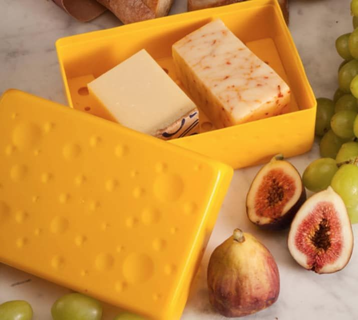 "Promising review: ""I LOVE it! It keeps my cheese as fresh as the day it was bought."" —VanessaMGet it at QVC for $19.99."