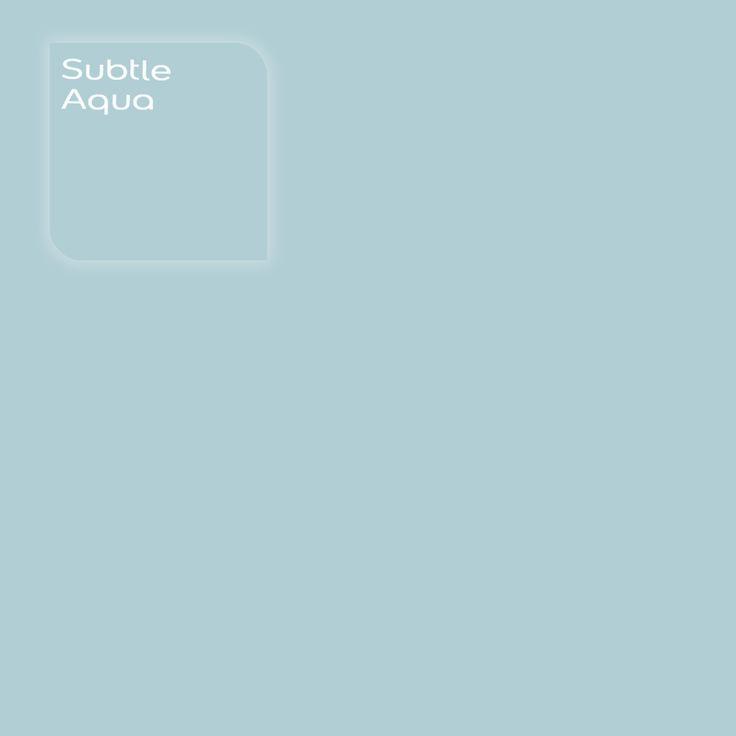 Pure by Flexa Colour Lab® kleur: Subtle Aqua. Verkrijgbaar in verfspeciaalzaken.