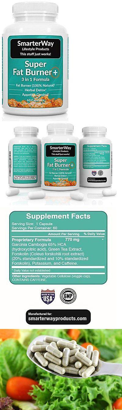 Appetite Control Suppressants: Smarterway   3 In 1 Fat Burner   Green Tea + Garcinia + Forskolin   Metabolism   BUY IT NOW ONLY: $48.2