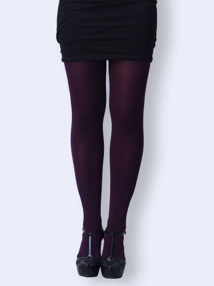 Deep Purple Woolen Tights