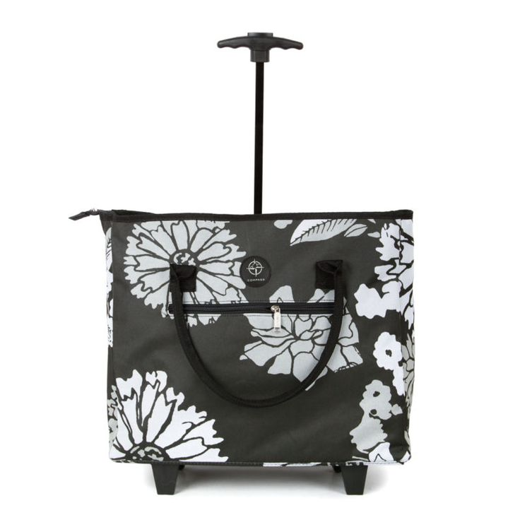 Lightweight Wheeled Shopping Tote Cabin Bag Trolley Airline Hand Luggage Wheels