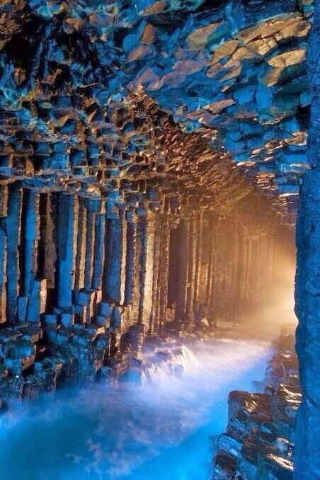 Fingal's Cave in the Hebrides Islands of Scotland