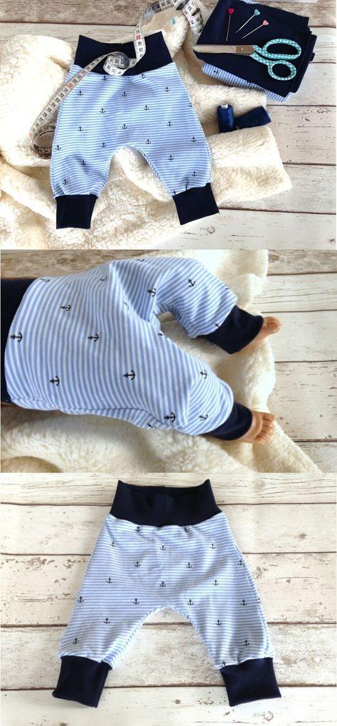 Freebook Baby-Pumphose aus Jersey ❤ Sehr gute Nähanleitung ❤ Anfänger geeignet ❤ genial einfach ❤ PDF zum Drucken ❤ Freebook ✂ Nähtalente.de ✂ Free sewing pattern for a babie trouser in 3 sizes.