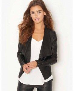 Kardashian Kollection PU Drape Jacket