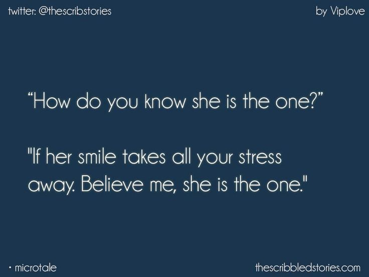 She is the one but i am not meant to be with her.