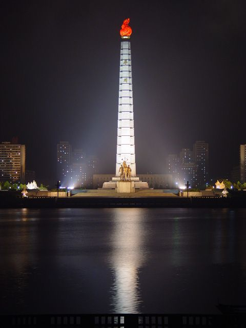 Tower of Juche Idea, Pyongyang, North Korea Copyright: Martyn Williams