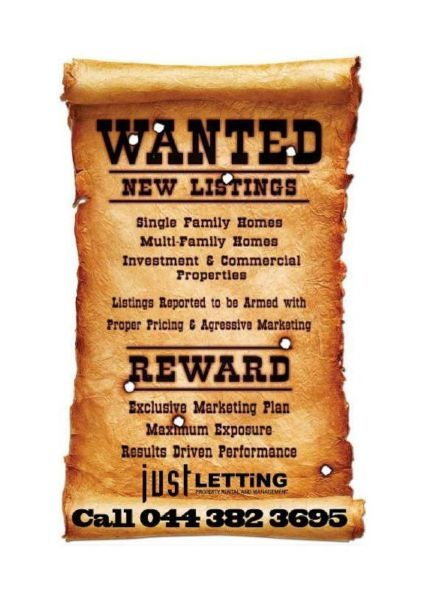 A well established Rental Agency in Knysna is looking for Commercial properties for qualified tenants. Strict application processes are followed and applied to potential tenants. The owners approve or declines the tenant application. Please contact us to discuss your rental options on 044 382 3695 or email us at info@justlet.co.za.
