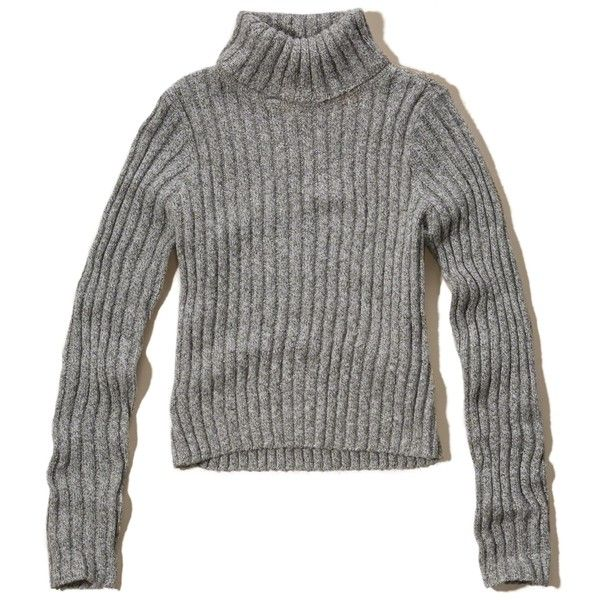 Hollister Turtleneck Pullover Sweater (53 AUD) ❤ liked on Polyvore featuring tops, sweaters, hollister, grey, grey turtleneck sweater, grey turtleneck, grey sweaters, long sleeve pullover sweater and pullover sweaters