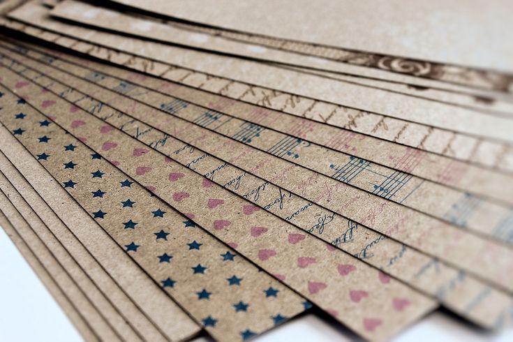 Lady Pattern Paper - Kraft Essentials Paper Pack