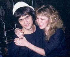 Jimmy Iovine and Stevie  ~ ☆♥❤♥☆ ~      hugging him; he was her then-boyfriend and record producer and produced Stevie's first solo album 'Bella Donna' in 1981 ~ http://www.fleetwoodmac.net/penguin/iovine.htm