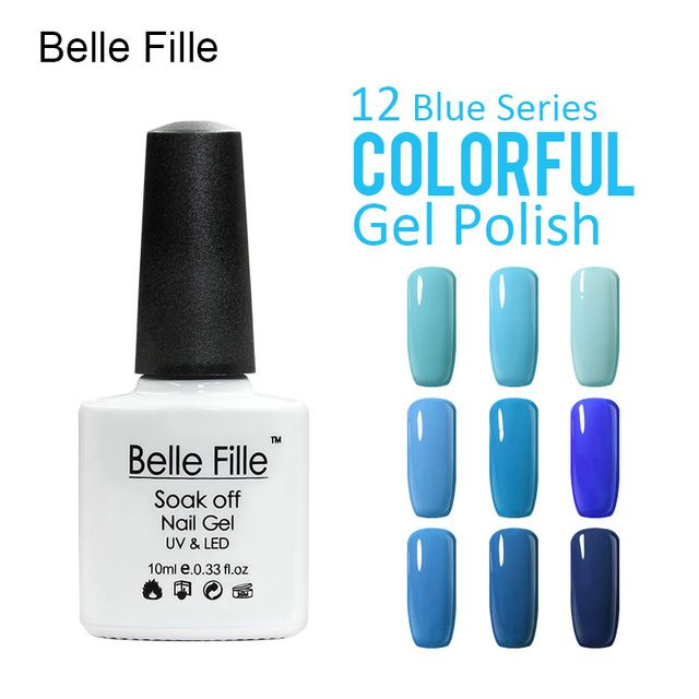 💬 #Belle #Fille #Лак Для #Ногтей #Гелем #УФ #Лак #Для #Ногтей #Профессиональный #База #Top #небесно-#Голубой #Темно-#Синий  💰Цена: ₽117,53 руб. / шт  📦Заказать: http://ali.pub/sreh9