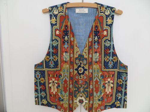 Blue Terracotta Persian Design Mens Waistcoat.38-40 Handmade. £34.99 THIS WAISTCOAT HAS NOW BEEN SOLD
