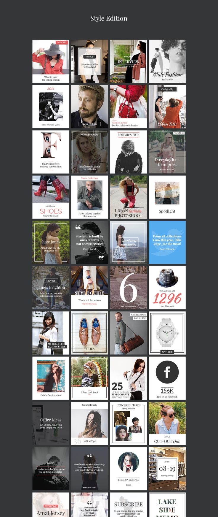 Stylish banners for websites, blogs, apps & social media
