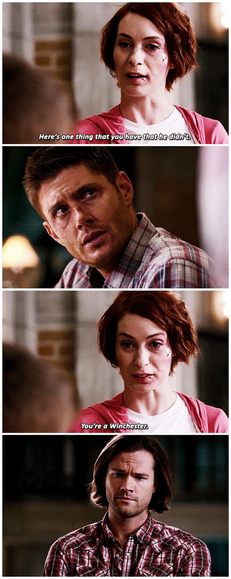 And being a Winchester means never giving up and always having your brother by your side.