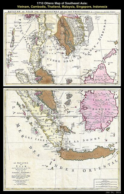 Map of Southeast Asia, 1710