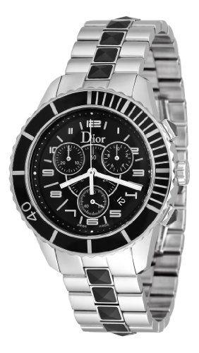 Christian Dior Men's CD114317M001 Christal Black Chronograph Dial Watch Reviews