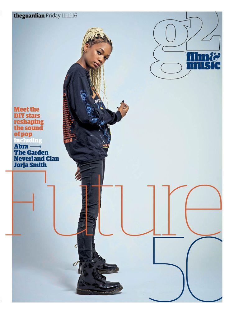 Guardian g2 Film&Music cover: Future 50. #editorialdesign #newspaperdesign #graphicdesign #design #theguardian