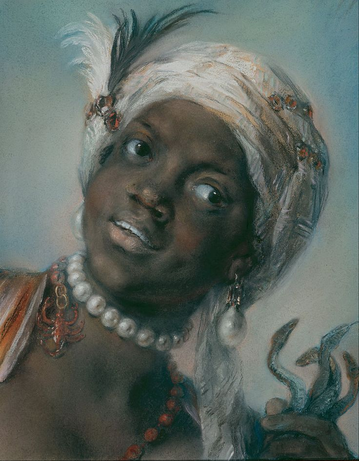 Rosalba Carriera - Africa (from Allegories of Four Continents) Italy (c. 1712)