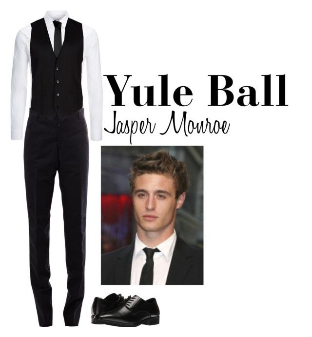 """Yule Ball (Jasper)"" by ateliana on Polyvore featuring Joseph, Thom Browne, Stacy Adams, Versace, Dolce&Gabbana, men's fashion and menswear"