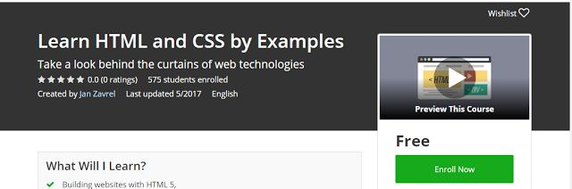 Learn HTML and CSS by Examples Free              Requirements    You should be curious to learn new things, the rest is my responsibility ...