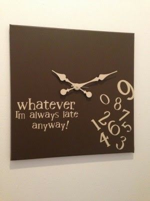 37 best images about klok on pinterest pallet wall art for Whatever clock diy