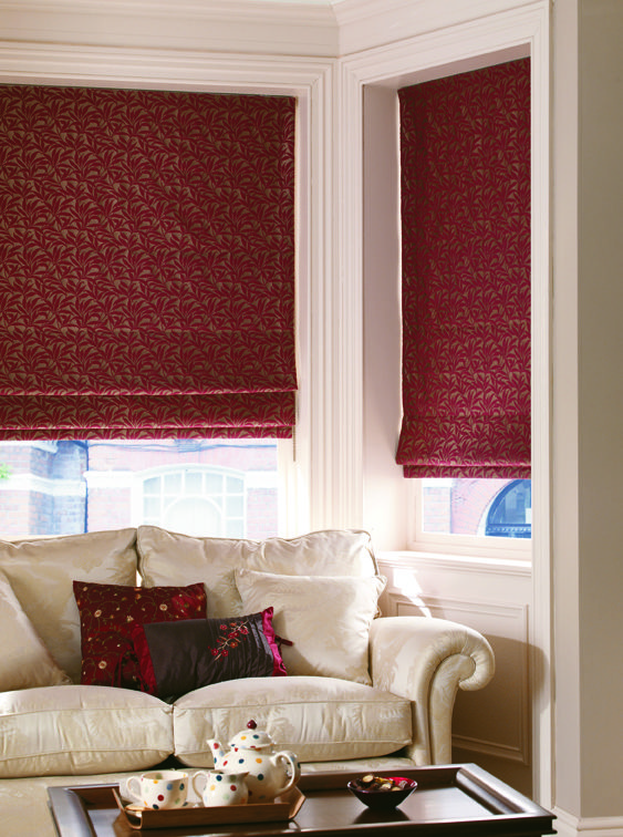 Augusta Roman Blind In Peony Quality Made To Measure Roman Blinds Find This Pin And More On Gorgeous Window