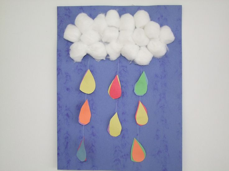 Rain Cloud Mobile Craft For Kids Wind And Weather