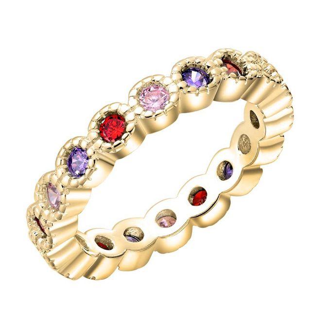 Новый рекламный высокое качество посеребренная ювелирные изделия сверкающий кристалл циркона Обручальное Кольцо сладкий стиль
