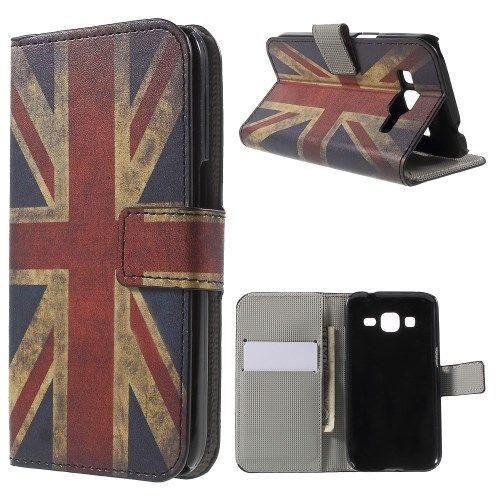 Mesh - Samsung Galaxy Core Prime Hoesje - Wallet Case Vintage Britse Vlag | Shop4Hoesjes
