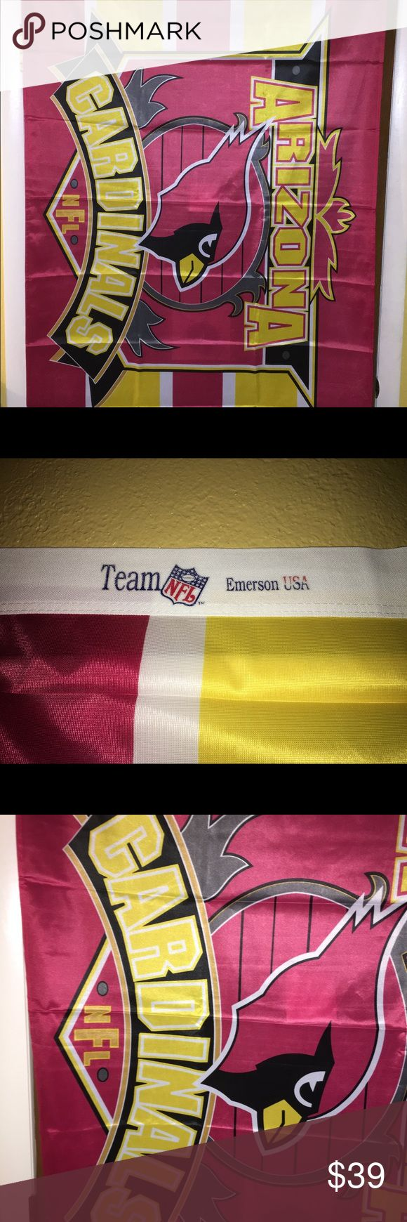 Arizona Cardinals team flag / banner 3'x5' NIP For sale is a brand new, in the package, Arizona Cardinals, 3'x5' team flag / banner.   Item is multi colored, looks amazing.   If you have any questions or would like additional photos please feel free to ask NFL Accessories