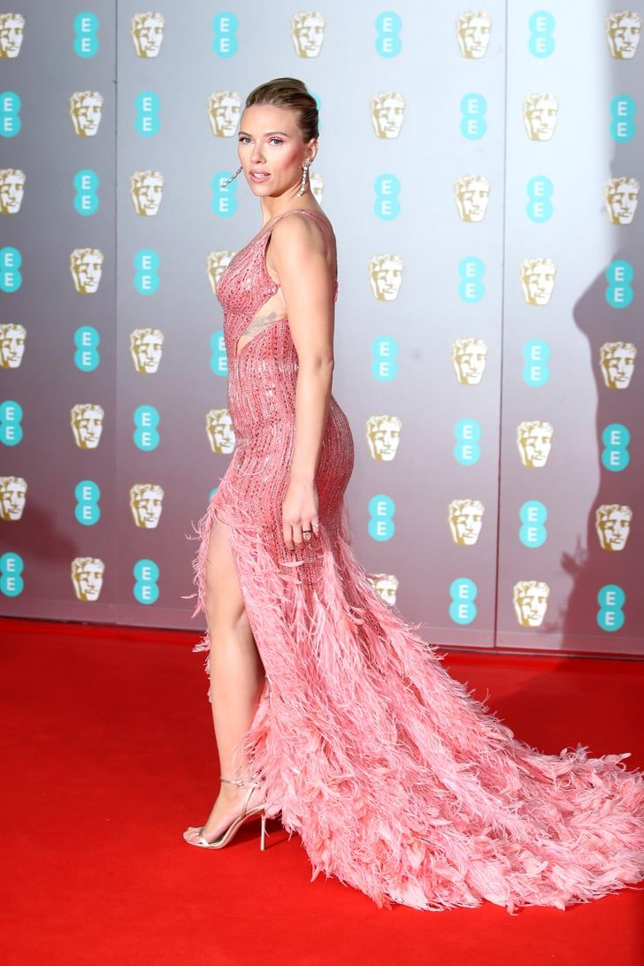 The Most Sultry Statement Dresses From The 2020 Baftas Red Carpet In 2020 Scarlett Johansson Scarlett Dresses